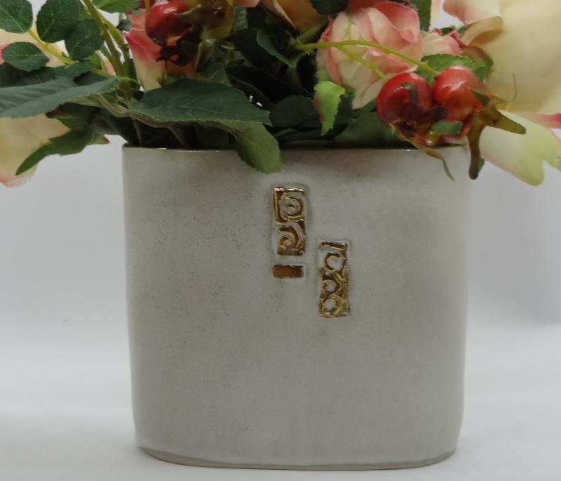 Flache Vase